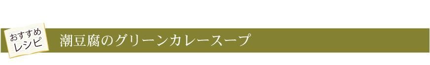 潮豆腐のグリーンカレースープ