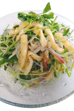 ■油揚げと豆苗のタイ風サラダ