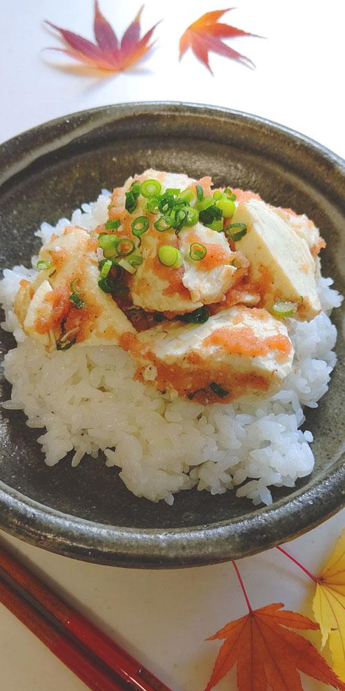 一世風靡のお豆腐丼料理写真