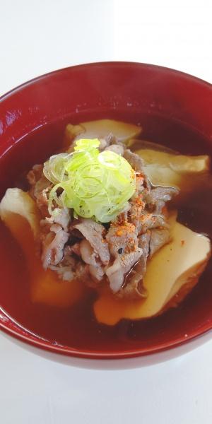 寄豆腐の肉吸い